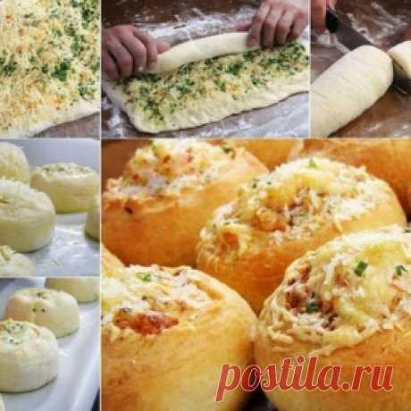 Булочки-роллы с сыром и чесноком - МирТесен