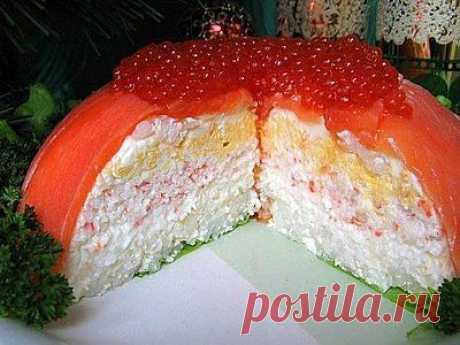 Рыбный закусочный торт «Рыбацкая удача» - рецепт приготовления с фото / COOK-MASTER.RU