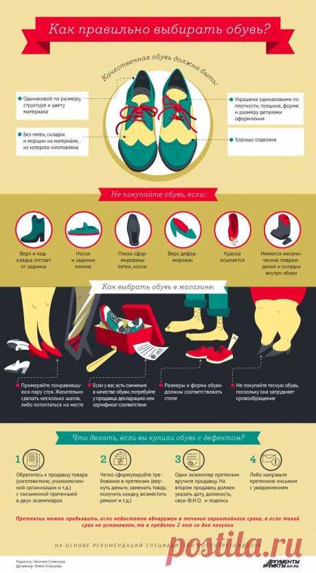 Как правильно выбирать обувь. Инфографика   Инфографика   Вопрос-Ответ    Аргументы и Факты c113ffbe423