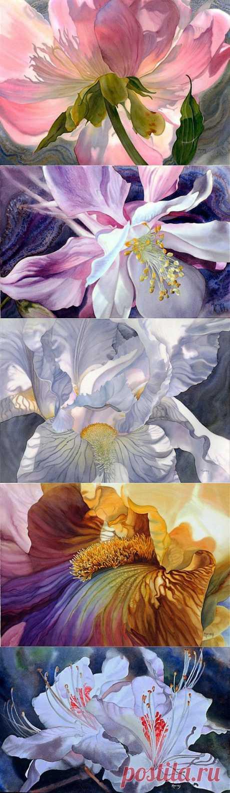 Цветы в исполнении Marney Ward.