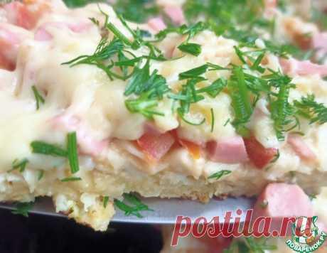 """""""Пицца"""" из лаваша, нарезанного соломкой – кулинарный рецепт"""