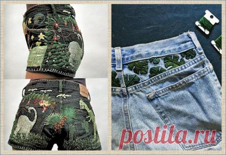 Джинсы с вышивкой - настоящий стиль настоящего лета | МНЕ ИНТЕРЕСНО | Яндекс Дзен