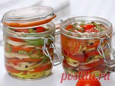 Рецепт салата из помидор на зиму - Овощи на зиму . 1001 ЕДА вкусные рецепты с фото!