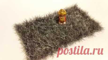 Тканый коврик без ткацкого станка на листе картона | Ирина СНежная & Вязание | Яндекс Дзен