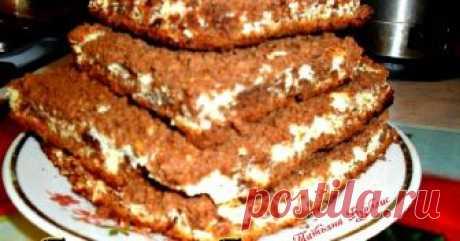 Ворожный «Торфяной» пирог Автор рецепта Татьяна Бурблис Классный рецепт - Ворожный «Торфяной» пирог! Всем привет! Пирог очень вкусен и прост в приготовлении. На второй день (на мой вкус) пирог становится ещё вкуснее.Тесто пропитывается и становится очень нежным и мягким. Рецепт эстонской кухни. Форму можно брать любую (чем выше будет форма по диаметру, тем выше будет пирог) Если брать как у меня, вполне можно подать как пирожные, разрезав на квадратики.