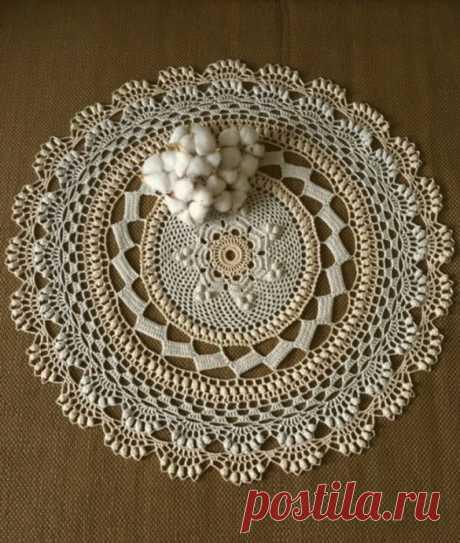 Ажурная салфетка - украшение для дома