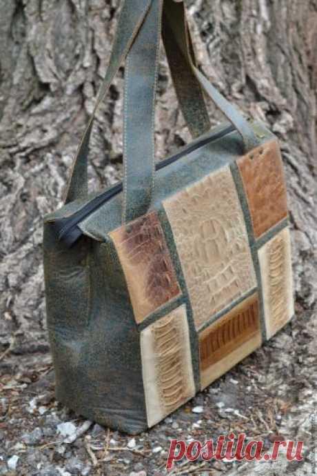 Шьем кожаную сумку – Ярмарка Мастеров