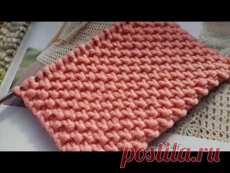 "Фактурный узор спицами "" Кожа дракона"" 🦖 knitting pattern."