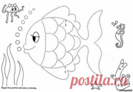 Po tochkam (5) - Соединяем по точкам - Дошкольное развитие ребенка - БумАгушки - детские раскраски и многое другое