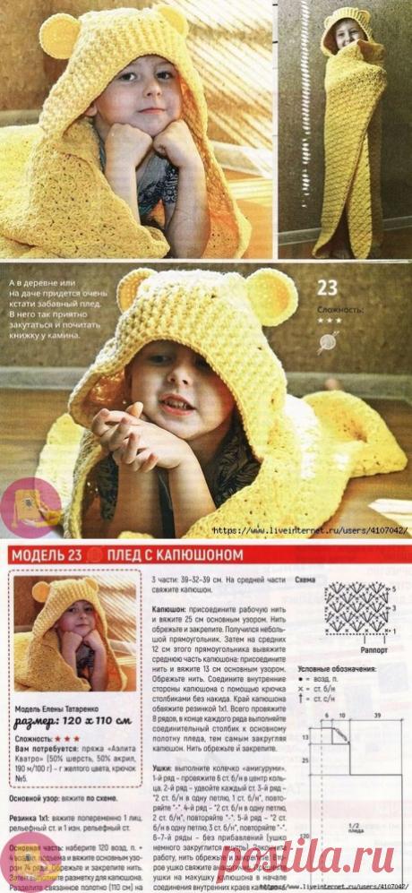 Забавный плед с капюшоном — Сделай сам, идеи для творчества - DIY Ideas
