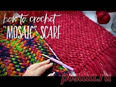 Это что-то… Самый роскошный шарф крючком! 🦄 Мастер-класс для начинающих!