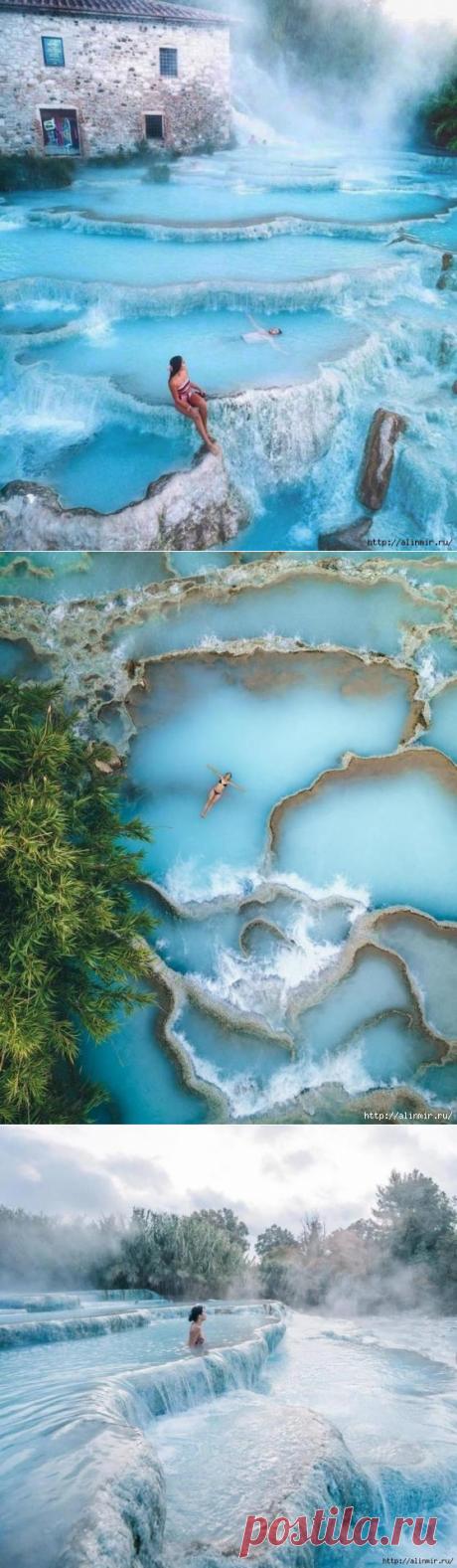 Невероятная красота термов Сатурнии: голубая лагуна, как рай на земле