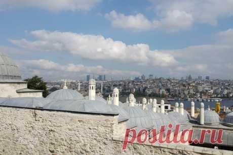 Смотровая площадка. Мечеть Сулеймания. Вид на город и Галатскую башню.