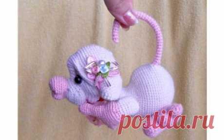 Вязаная Влюбленная мышка