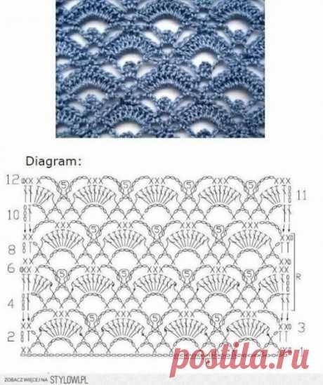 Вязание-крючок-Рисунки и схемы.