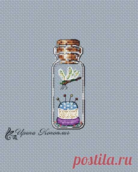 Бесплатные схемы для вышивки крестом - первая подборка - баночки, бутылочки и прочие стеклянные емкости | ЗаТВОРница | Яндекс Дзен