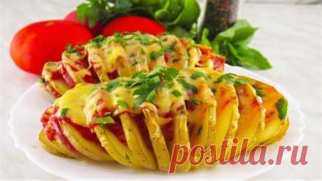 Картошка-гармошка под сырной коpочкой