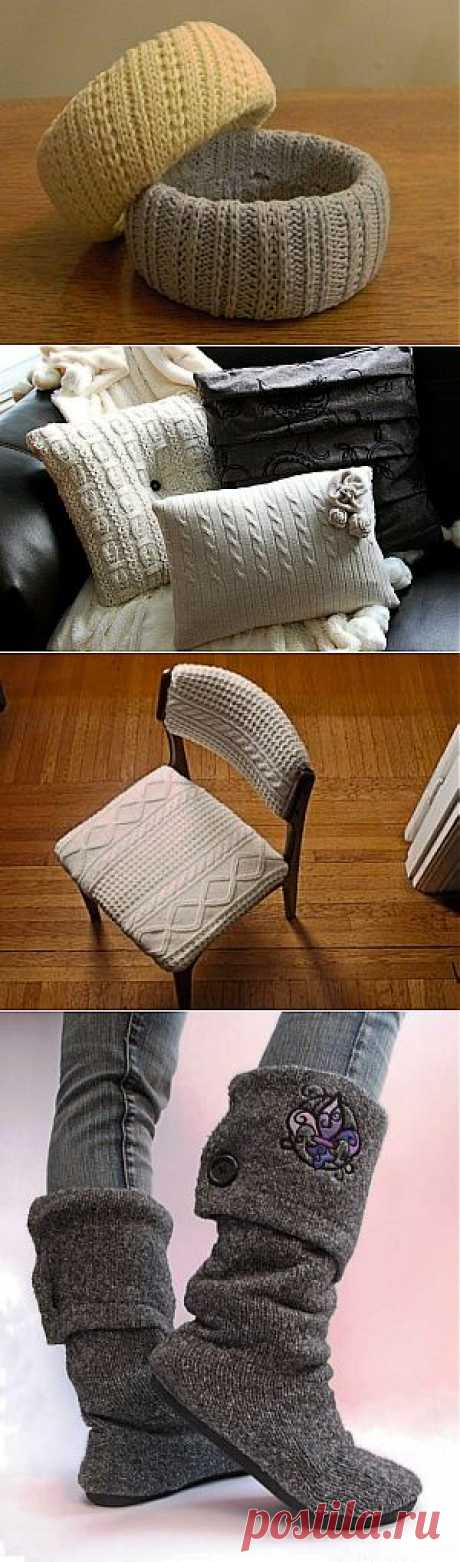 Что можно сделать из старого свитера | Самоделкино