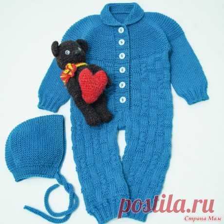 Комбинезон для малыша спицами. Описание вязания с расчетами и видео - Вязание - Страна Мам