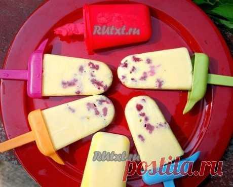 Как приготовить домашнее малиновое мороженое - рецепт, ингридиенты и фотографии