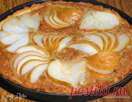 Пирог с грушами и марципаном. Ингредиенты: груши, мука, лимоны