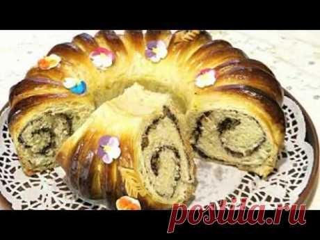 Пасхальный венок из каравайного теста / Easter wreath from a loaf of dough