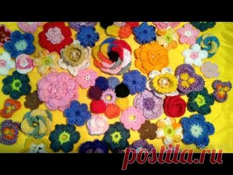 Вязаные цветы/ Cвязанные крючком цветы/ Crochet flowers/ Как связать цветок крючком