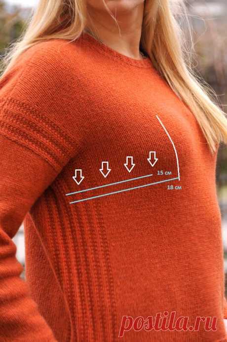 Как посадить плечевое изделие на большую грудь (живот, сутулую спину...) | Будет связано! | Яндекс Дзен