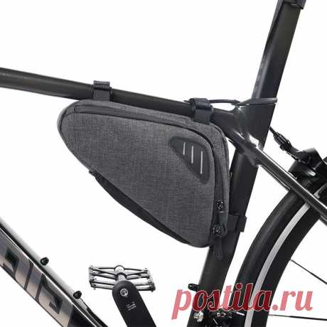 Xmund saddle bags bike front frame bag with reflective stripe mountain bike waterproof tube bag for bike storage cycling accessories Sale - Banggood.com