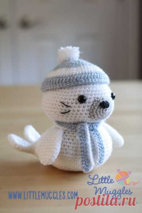 морской котик крючком бесплатный мастер - класс