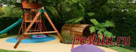 Детская игровая площадка на даче своими руками: гайд по строительству