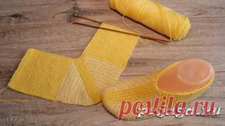 Желтые следки на двух спицах