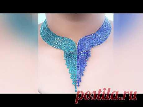 How To Make Designer  Necklace At Home   DIY   Hand Made Bridal Necklace   Chokar    Uppunuti Home
