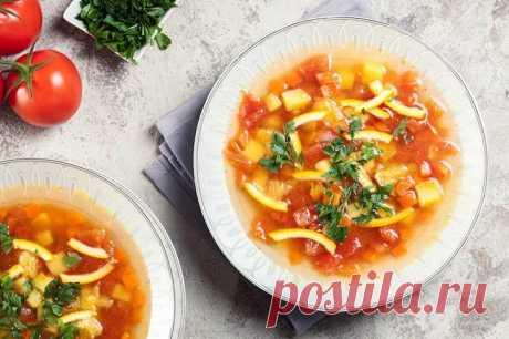 Легкий томатно-апельсиновый суп – пошаговый рецепт с фото.
