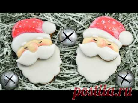 SANTA gingerbreads with moustaches ☆ GINGERSNAP