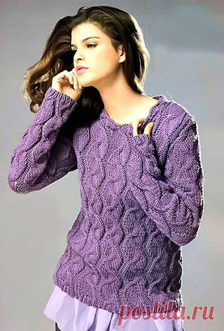 Пуловер с узорами | ВЯЗАНИЕ - LoveKnitting.ru | Яндекс Дзен