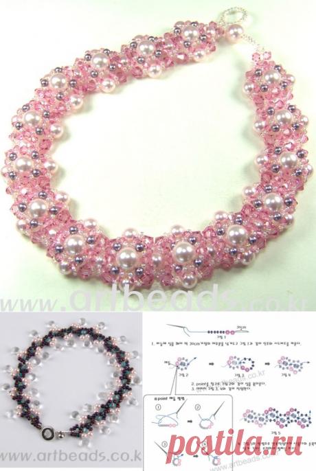 Колье или браслеты трех видов Браслеты из бисера, Колье, бусы, ожерелья – Бисерок