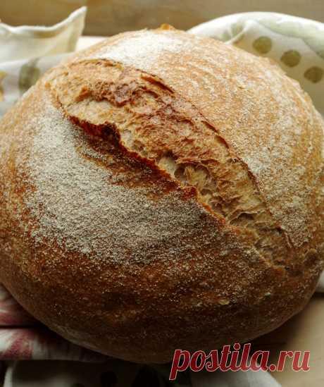 Цельнозерновой хлеб на закваске - Sourdough Whole Wheat Bread