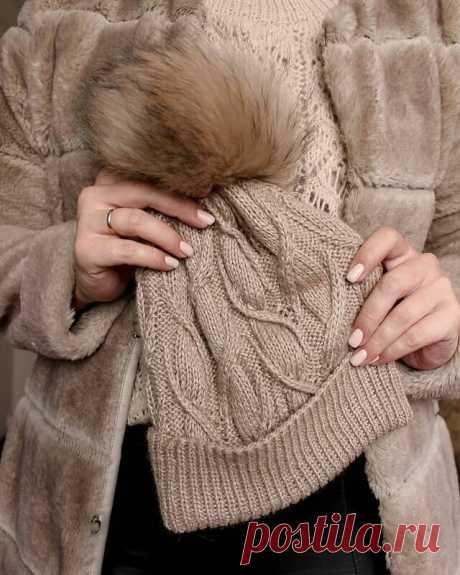 В эту шапочку вы влюбитесь с первого взгляда 🧡🧡🧡Описание + Схема узора | Enjoy Knitting/Вяжем узоры | Яндекс Дзен