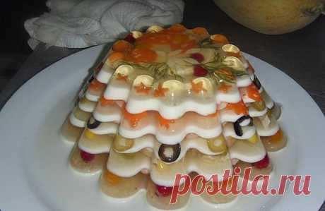 Ideas of registration of jellied dishes - Simple recipes of Овкусе.ру