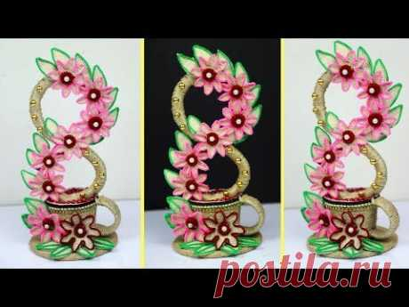 🌷Cool Idea of Using Jute!! Showpiece Making Using Jute 💐 Showpiece Making at Home