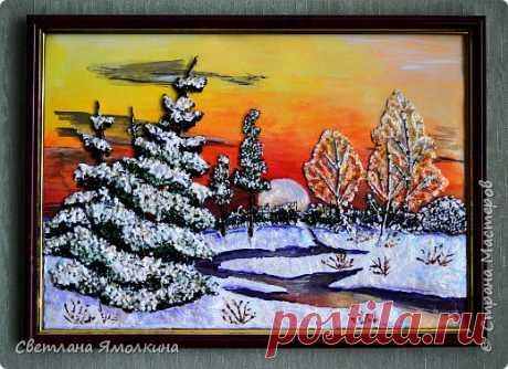 Зимний закат. | Страна Мастеров
