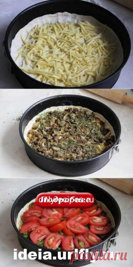 Киш с грибами и помидорами! Оригинальное сочетание! - Рецепты мира