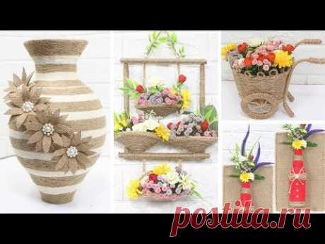5 Jute craft ideas | Home decorating ideas handmade | #3
