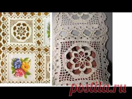 Crochet motif patterns for tablecloth part 2Мотив для скатерти Часть2