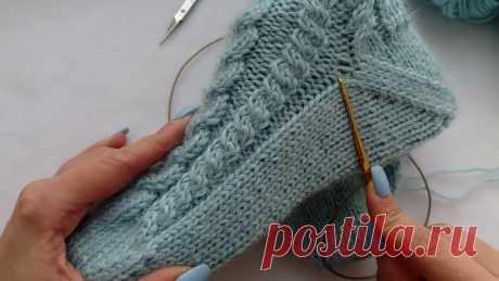 """как связать носки спицами с """"косами"""" от мыска. Забытая пятка. Подробный МК. легко и просто. учимся вязать носки спицами с косами от мыска и забытая пятка. Пошаговый мастер класс. ВЯЗАНЫЕ НОСКИ. Вяжем носки спицами. How to knit socks. Как вязать прос..."""