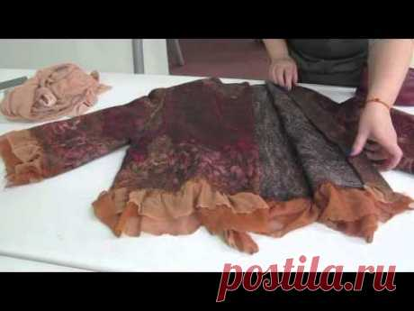 Jacket fulling with a tselnovalyany sleeve. The report from a master class on Sakhalin. - YouTube