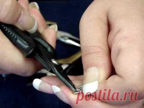 Примеры использования раздельны колец и колец пружинкой. - Бисероплетение