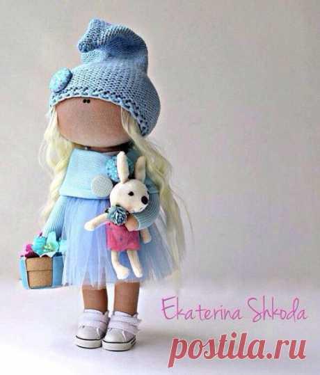Интерьерная куколка рост 27см для уюта в вашем доме + выкройка. / Вязание как искусство!