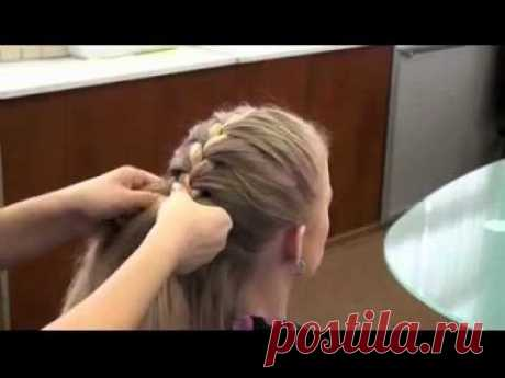 Плетение косичек - Колосок - YouTube